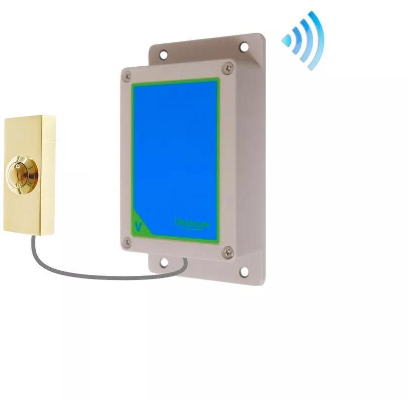 ULTRA SECURE Kit bouton-émetteur sonnette IP65 sans-fil autonome extérieure longue