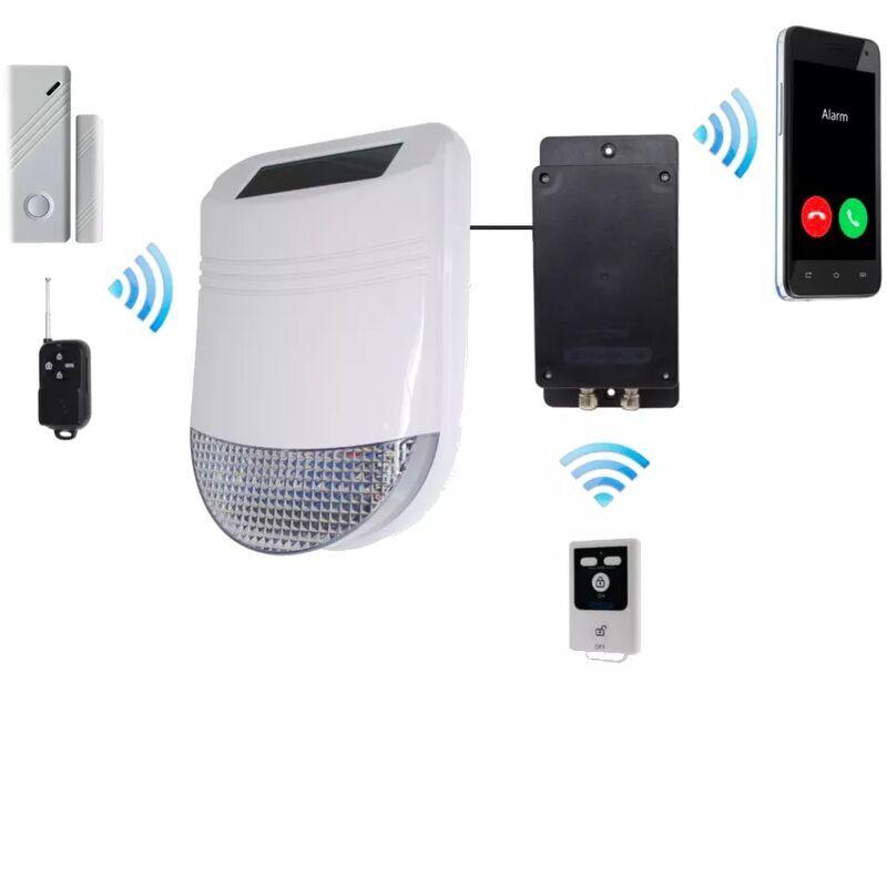 ULTRA SECURE Kit GSM sans-fil autonome de détection de vibration / ouverture et