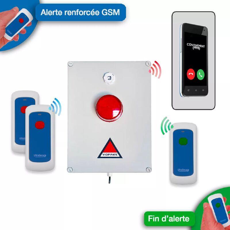 ULTRA SECURE Kit 'PPMS 5' renforcé GSM incendie - modulable sans-fil longue distance