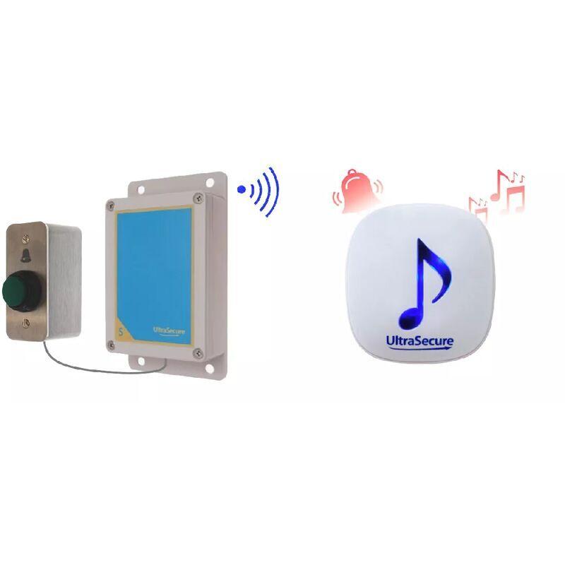ULTRA SECURE Kit sonnette sans-fil 600m avec carillon 35 mélodies (DA-600) bouton