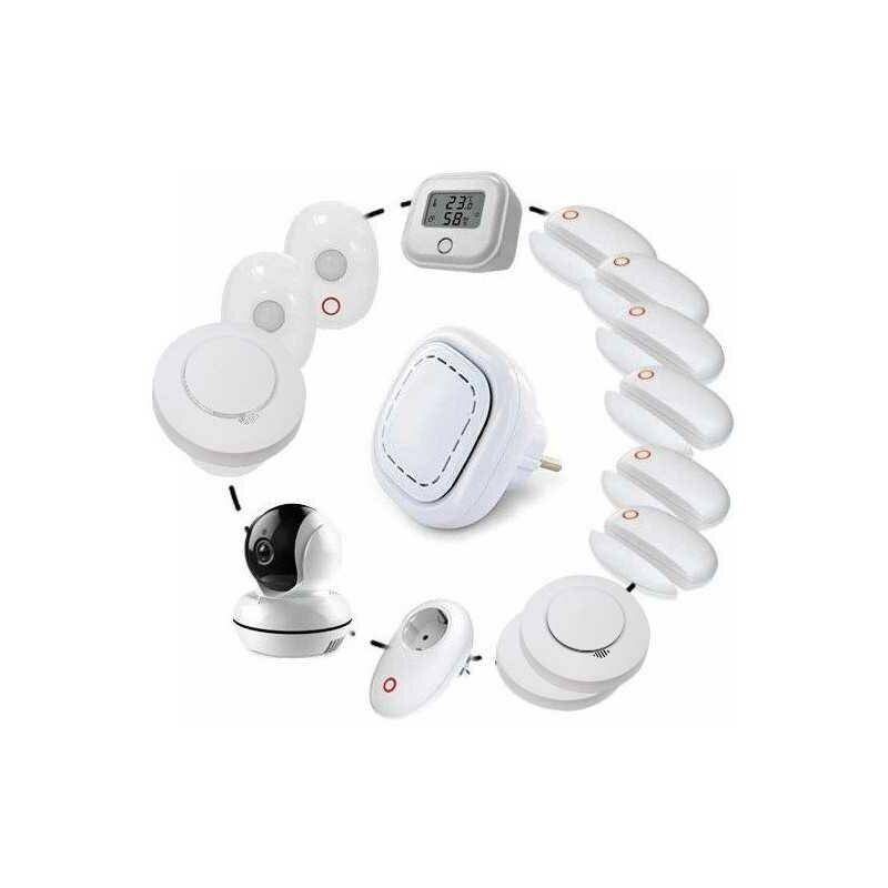 LIFEBOX Smart Alarme Sans Fil Connectée Kit Smart06 - Lifebox