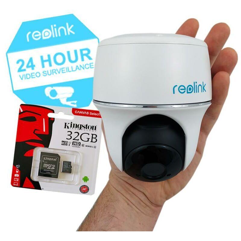 ULTRA SECURE Pack caméra motorisée Reolink Argus PT + carte-SD - 100% sans-fil