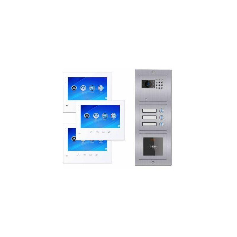 Evoya - Portier vidéo à badges 3 logements i603 BUS