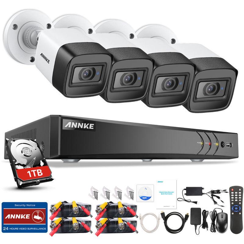 Annke - Système de caméra de vidéosurveillance Ultra HD 4K H.265 DVR et