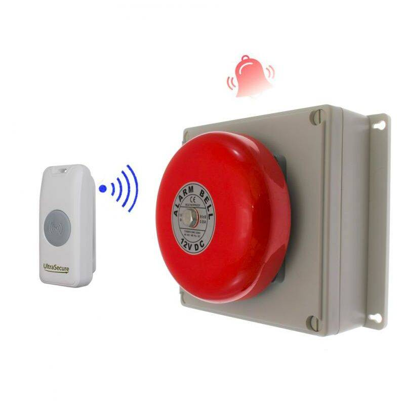 ULTRA SECURE Sonnette cloche industrielle sans-fil 800 mètres longue distance