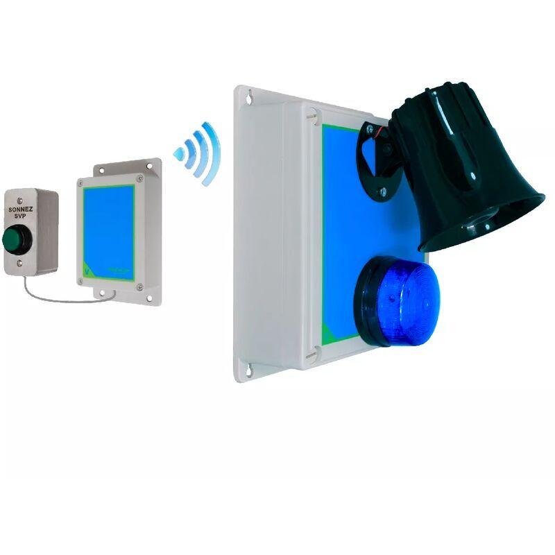 ULTRA SECURE Sonnette haute-résistance flash sirène multi-ton sans-fil 800m longue