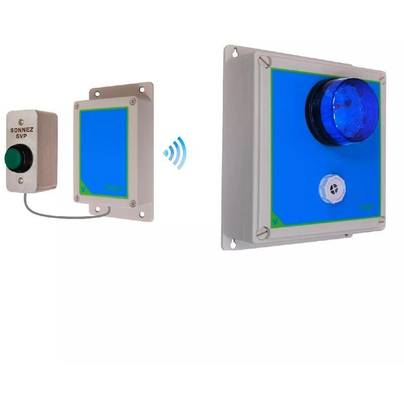 ULTRA SECURE Sonnette haute-résistance flash sirène réglable sans-fil 800m longue