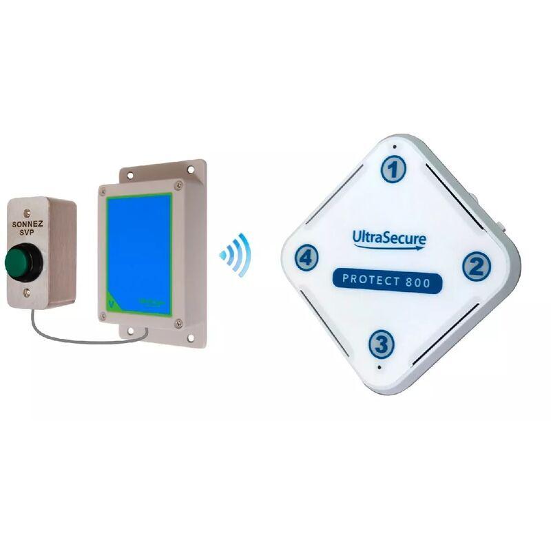ULTRA SECURE Sonnette IP65 haute-résistance sans-fil 800 mètres longue distance