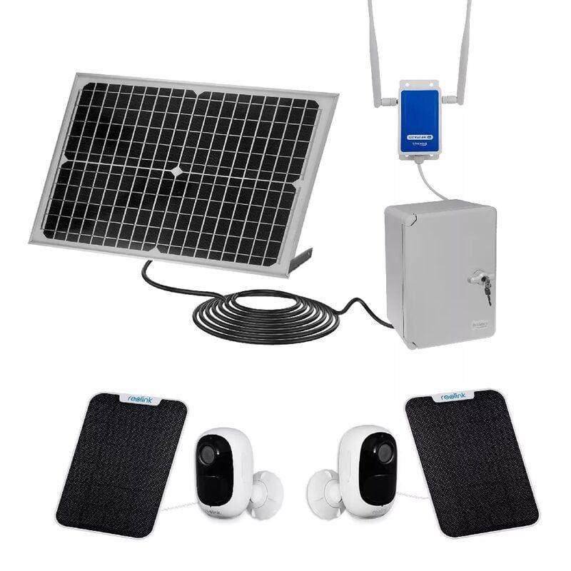 ULTRA SECURE Vidéosurveillance 100% autonome solaire sans-fil UltraCAM 4G sur