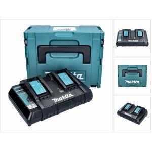 Makita DC18RD ZJ Doppel Chargeur rapide sans fil + Coffret Makpac 3 + - Publicité