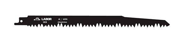 LABOR 5 lames de scie sabre HCS Lt. 240 mm 5 TPI type S1531L - Bois