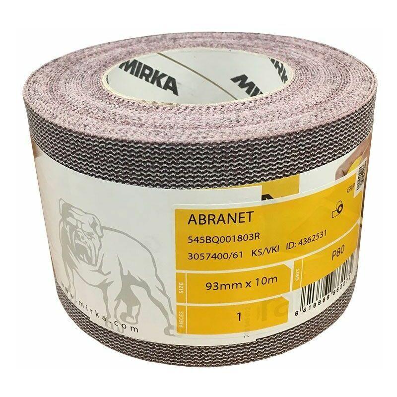 MIRKA Abranet rouleaux abrasifs 93 mm x 10 m   Grain: 80 - MIRKA