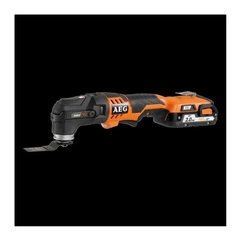 A.E.G AEG POWERTOOLS Multitool 18V 2 batteries 2Ah Li-ion + accessoires