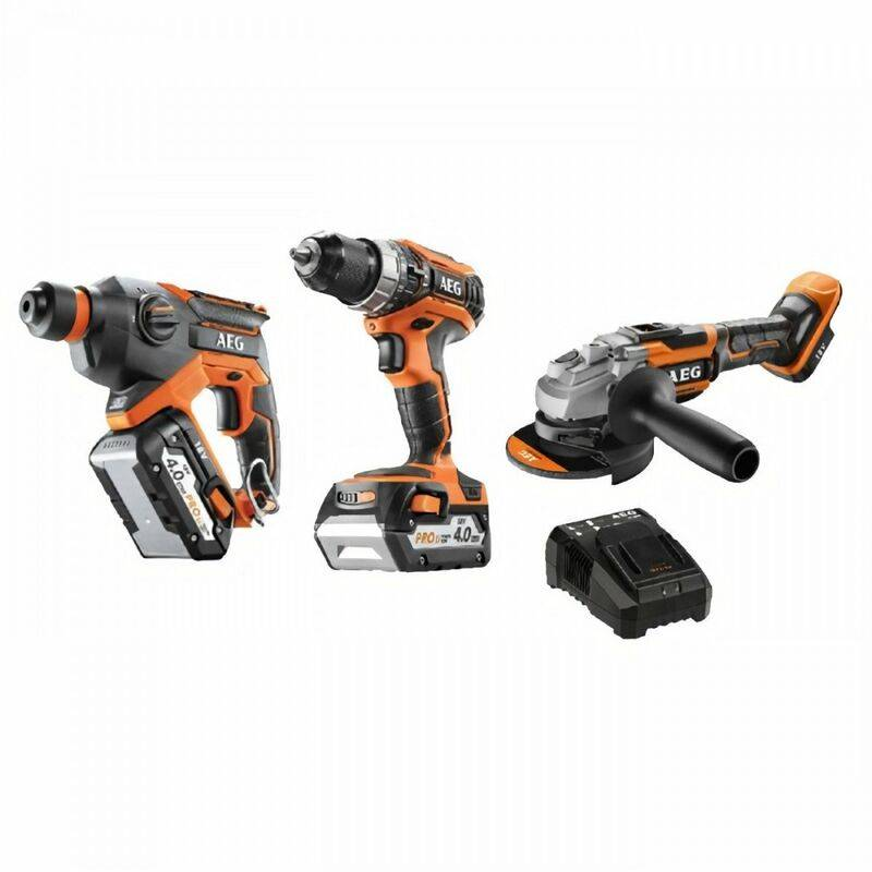 Aeg Powertools - AEG Pack 3 outils sans fil Pro18V - perceuse a