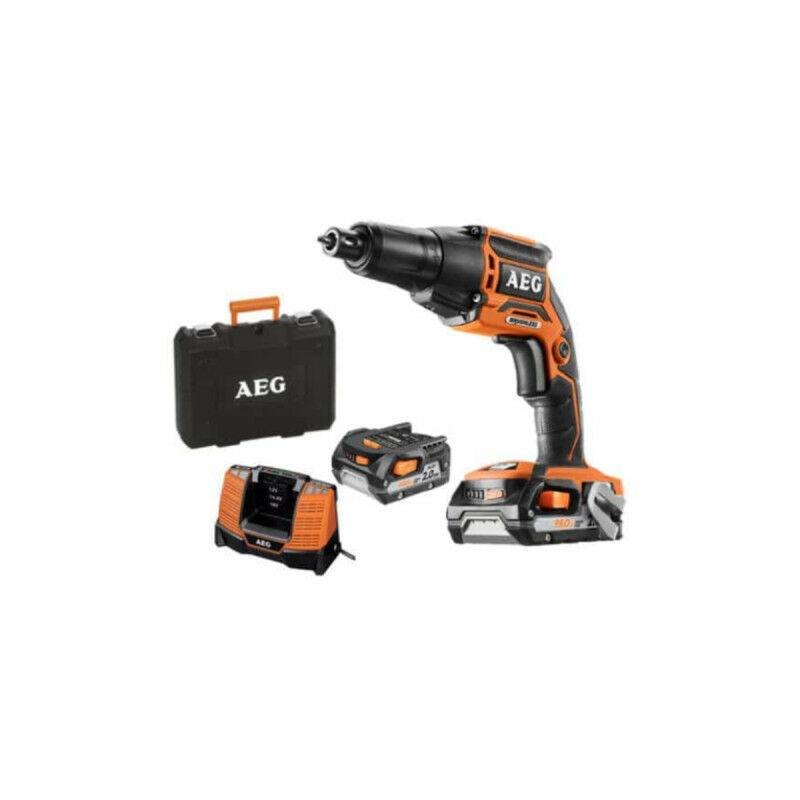 AEG Visseuse plaquiste AEG brushless 18V BTS18BLLI-202B - 2 batteries 2,0Ah