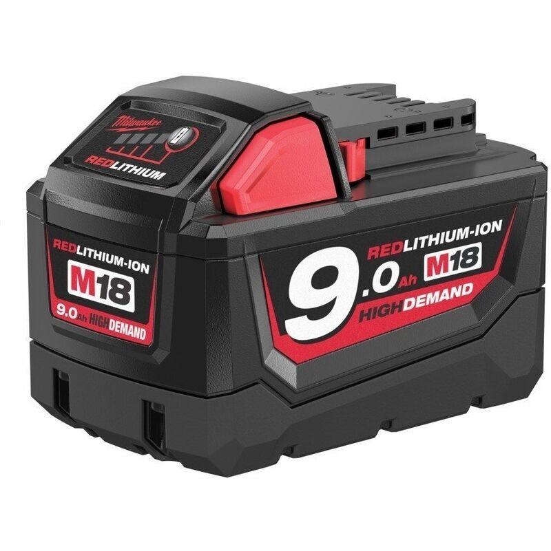 MILWAUKEE Batterie Li-ion 18V 9.0Ah MILWAUKEE - M18 - 4932451245