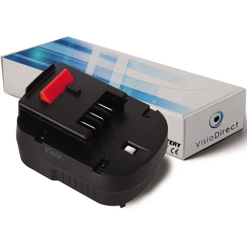 VISIODIRECT Batterie pour Black et Decker HP12K perceuse visseuse 3000mAh 12V