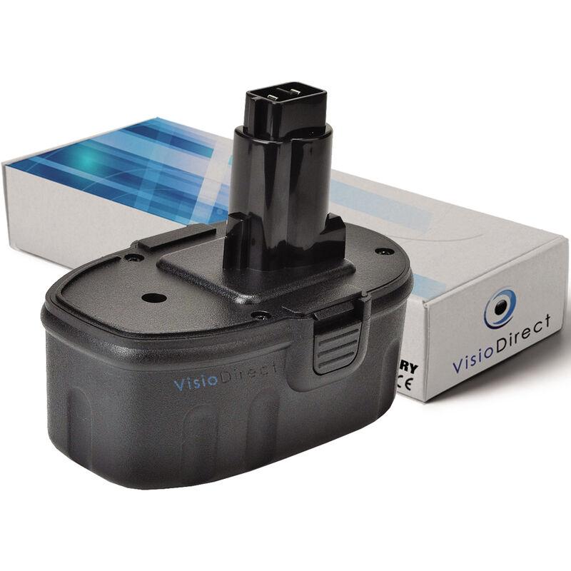 VISIODIRECT Batterie pour Black et Decker HP932K-2 perceuse sans fil 3000mAh 18V