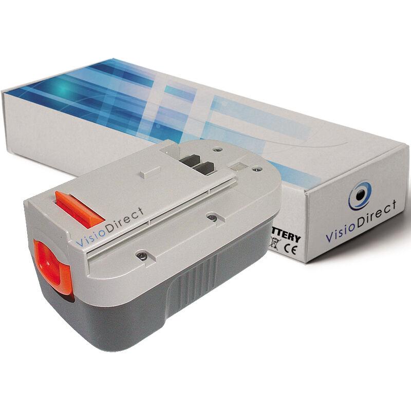 VISIODIRECT Batterie pour Black et Decker NS118 balayeuse autoportée 3000mAh 18V