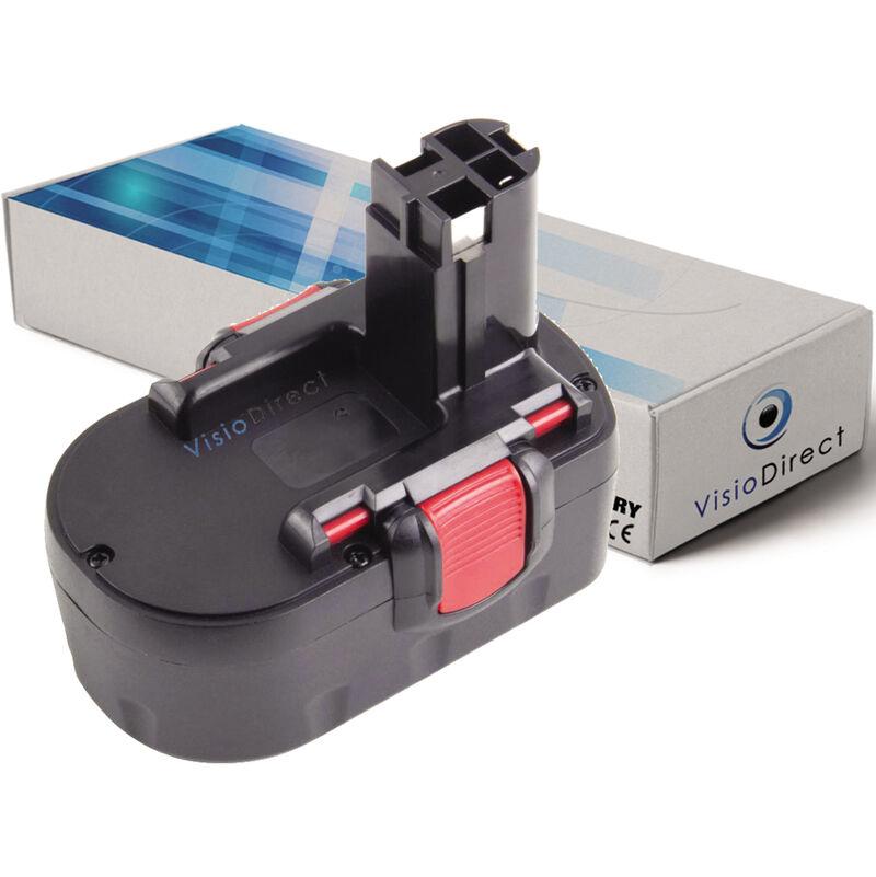 VISIODIRECT Batterie pour Bosch PKS 14.4V scie circulaire 3000mAh 14.4V