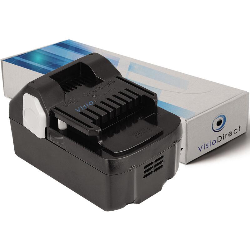 VISIODIRECT Batterie pour Hitachi C18DSLP4 scie circulaire 3000mAh 18V