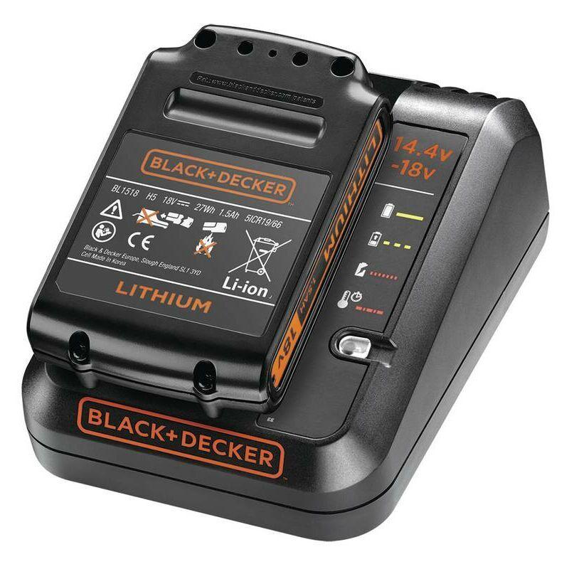 BLACK & DECKER Black&decker; - Black&Decker; Kit de démarrage 18 Volt : chargeur rapide