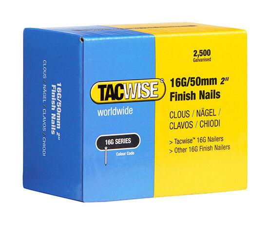TACWISE Boîte de 2500 clous de finition de type 16G L. 50 mm - TA-0298