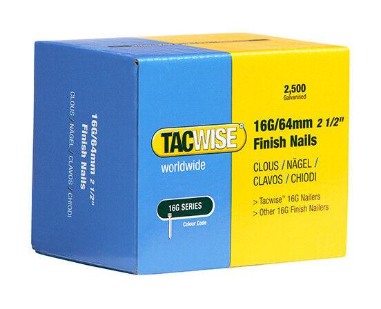 TACWISE Boîte de 2500 clous de finition de type 16G L. 64 mm - TA-0301