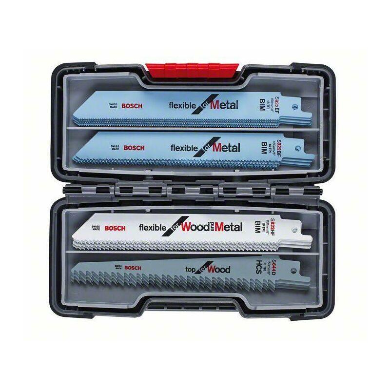 HAZET Bosch Kits de 20 lames de scie sabre à métaux et à bois, Tough Box, 20