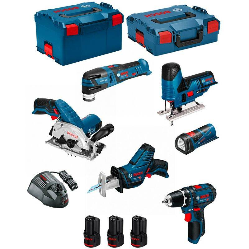 BOSCH Kit 12V BMK6-28CD3 (GSR 12V-15+GKS 12V-26+GST 12V-70+GOP