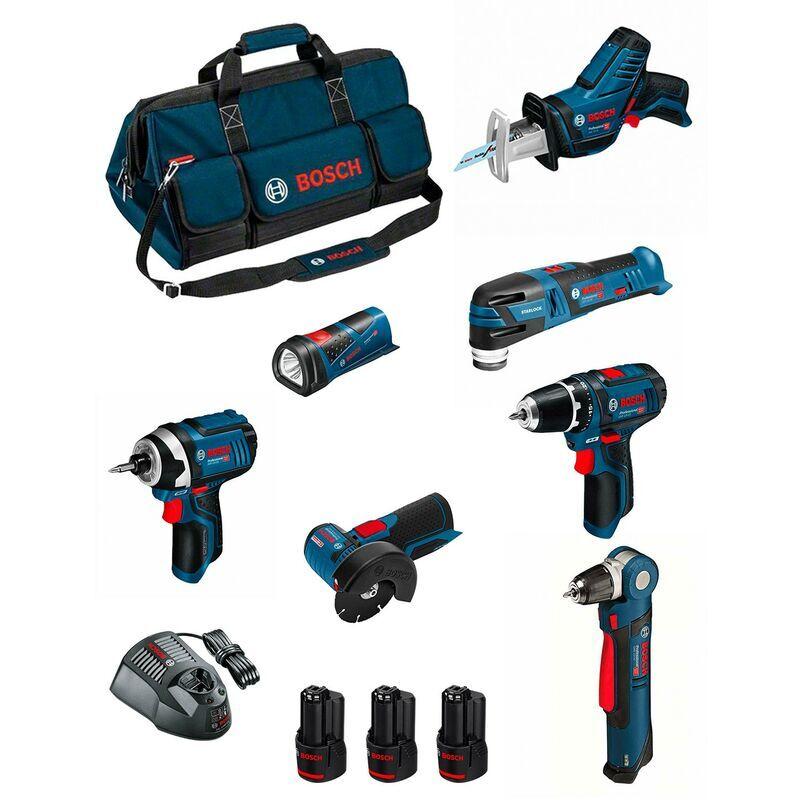 BOSCH Kit BMKB7-28CD3 (GSR 12V-15+GDR 12V-105+GWB 12V-10+GWS 12V-76+GOP