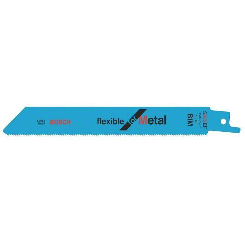 Bosch Lame de scie sabre S 922 EF Flexible for Metal - lot de 100 unités