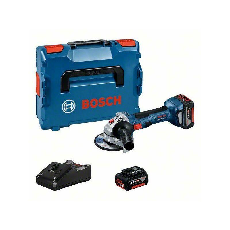 BOSCH Meuleuse BOSCH PROFESSIONAL GWS 18V-7 + 2 batteries 4,0Ah + chargeur