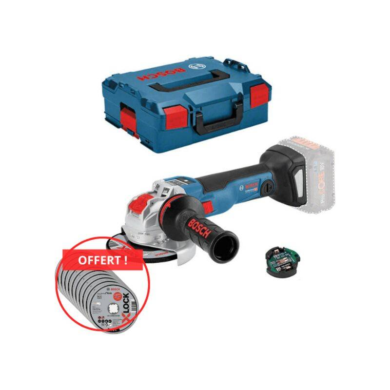 Bosch Professional Meuleuse angulaire sans fil GWX 18V-10 SC, L-BOXX,