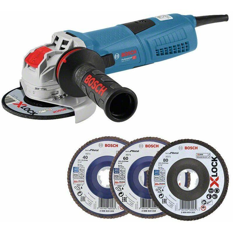 BOSCH Meuleuse d'angle X-Lock Bosch GWX 13-125 S avec disques à lamelles