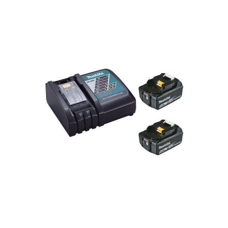 MAKITA Chargeur rapide Makita DC18RC + 2 batteries 18v BL1850B 5Ah Li-ion LXT