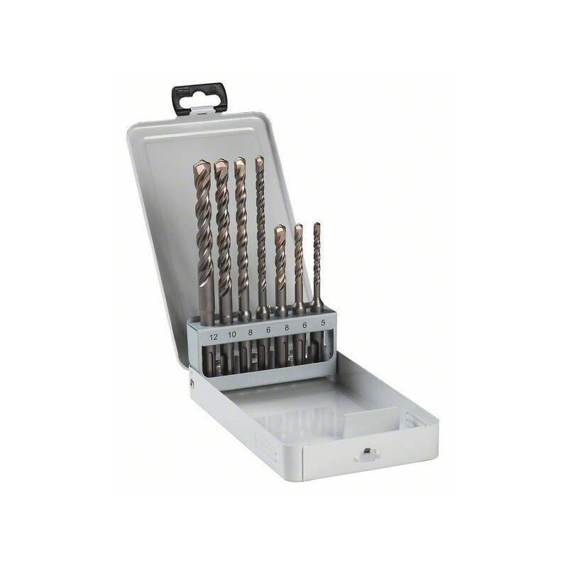 Bosch Coffret de 7 forets SDS plus, 5 - 12 mm - 2607018277