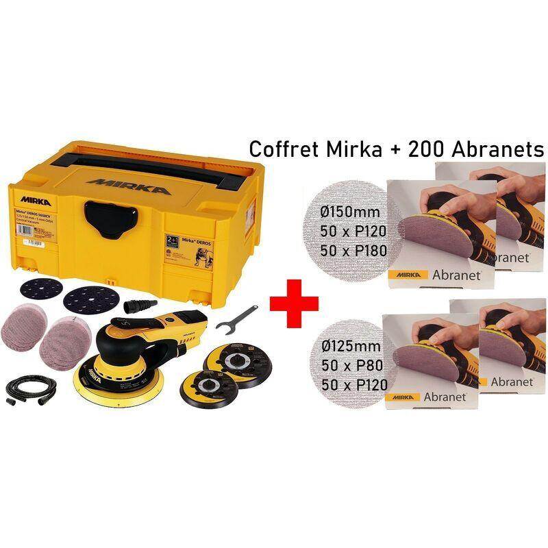 MIRKA Coffret MIRKA DEROS PRO 5650CV Ponceuse orbitale + accessoires 125 &