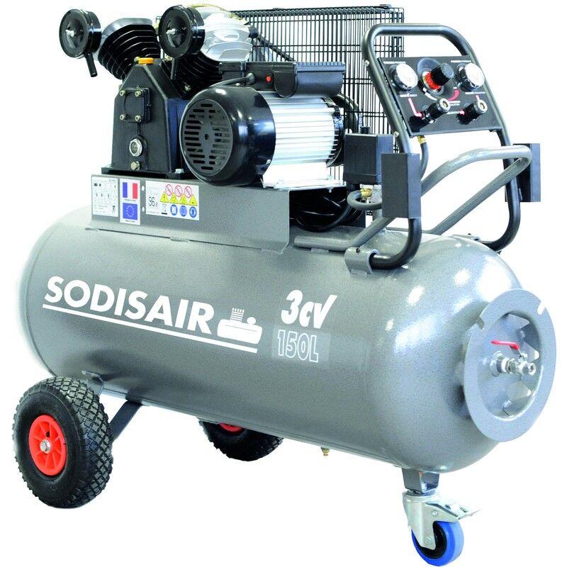 SODISAIR Compresseur a courroie sur roue 150 Litres 230V SODISAIR - S11270