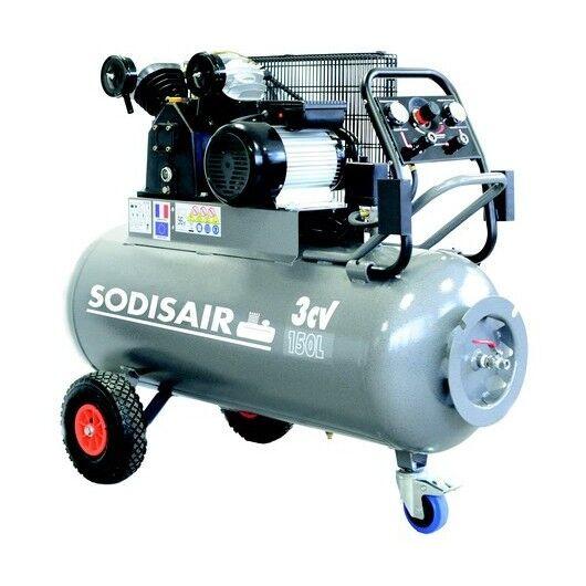 SODISAIR Compresseur à courroie sur roues 150 Litres 400V SODISAIR - S11272