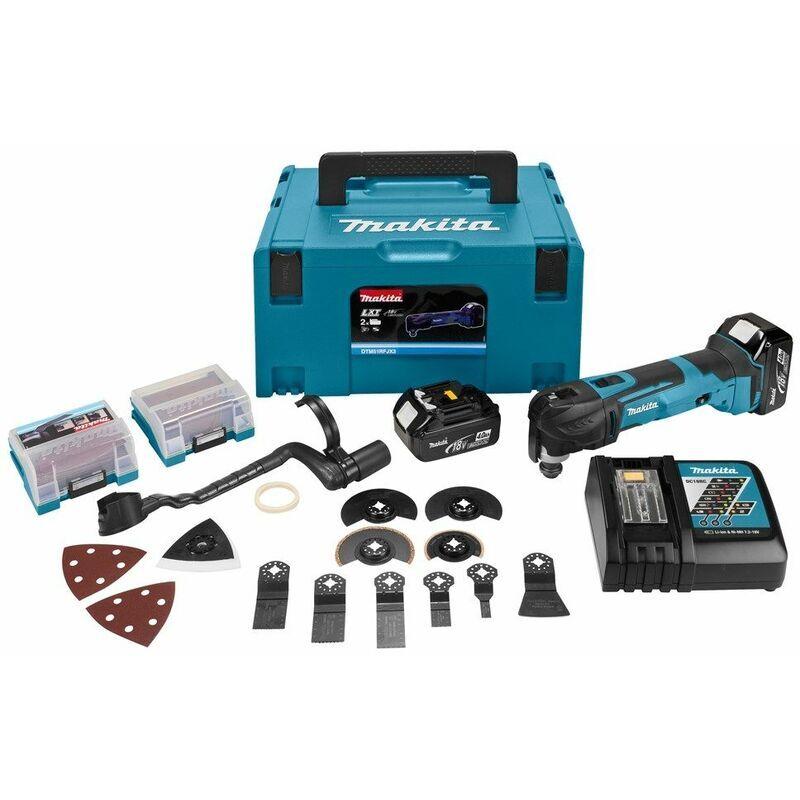 Makita DTM51RMJX3 Découpeur-ponceur multi-fonctions à batteries 18V