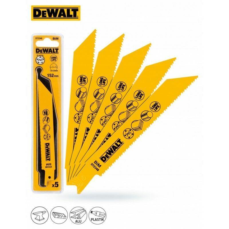 Dewalt DT2348-QZ Lame de scie sabre BIM pour la coupe du bois avec