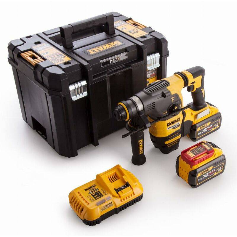 DEWALT Marteau DEWALT SDS-Plus 3,5J (EPTA) - 54V XR FLEXVOLT - 2 Batteries 9.0