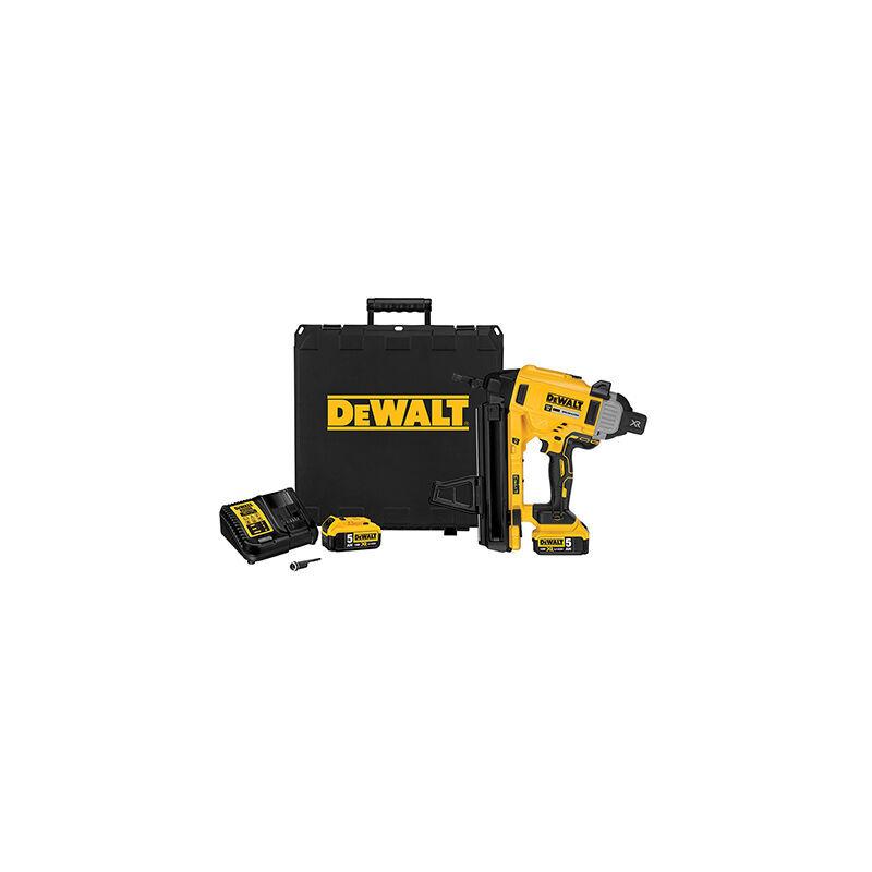 DEWALT Cloueur XR 18V 5Ah li-ion DEWALT - béton et acier - batterie + chargeur