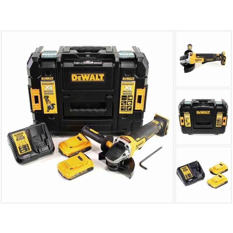 DeWalt DCG 406 D2 18 V 125 mm Brushless Meuleuse d'angle sans fil + 2x