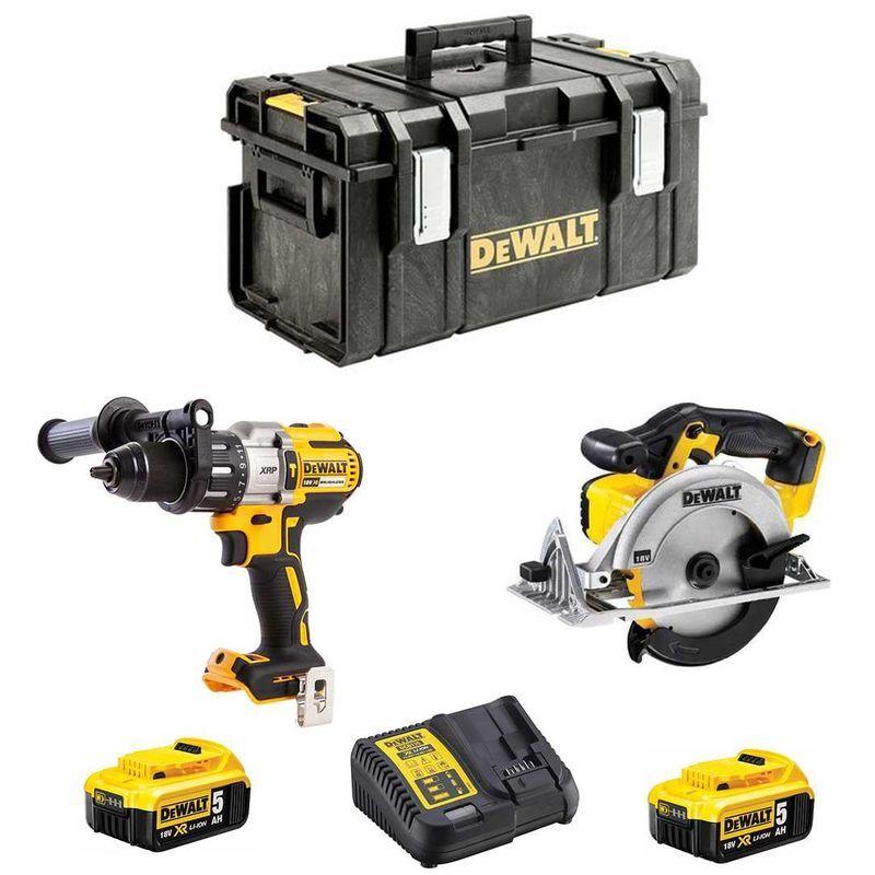 DEWALT Kit DCK294P2 (DCD995 DCS391 2 x 5,0 Ah DCB115 DS300)