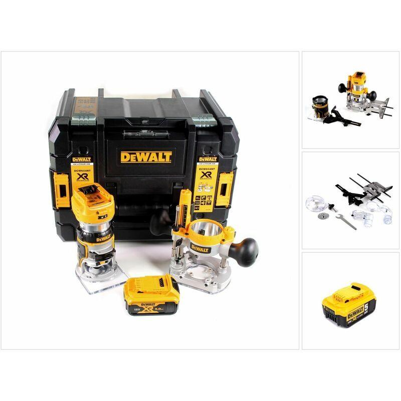 DeWalt DCW 604 NT Affleureuse/Défonceuse sans fil 18V 55 mm + 1x