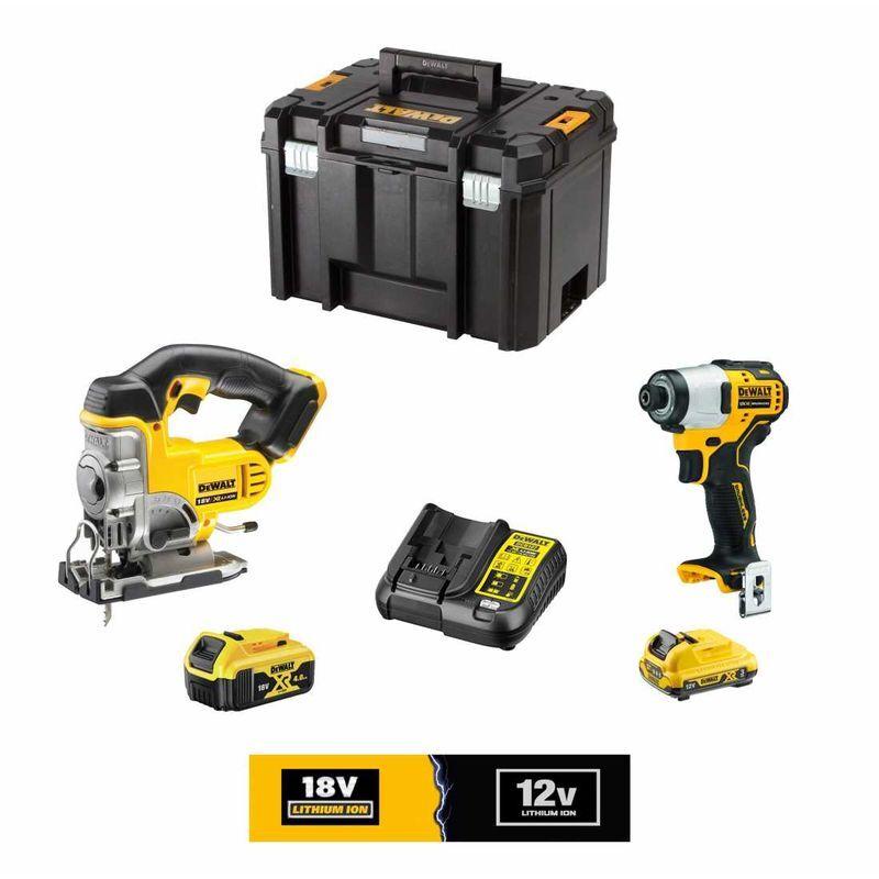 DeWALT Kit 12V/18V DCK3101L1M1T (DCS331 DCF801 1 x DCB182 18V 4,0 Ah 1