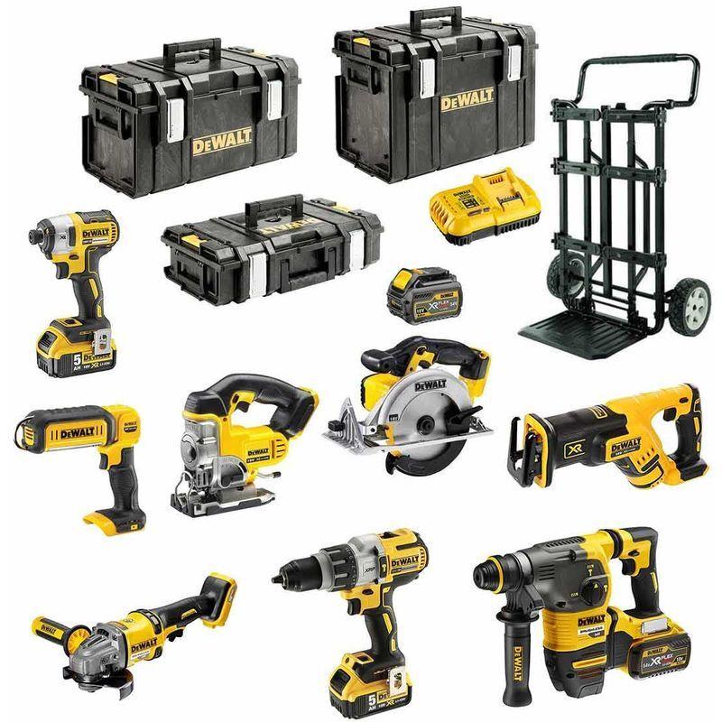 DeWALT Kit DCK-FR834MP4 54V/18V (DCD996+DCG414+DCH333+DCS387+DCS391+