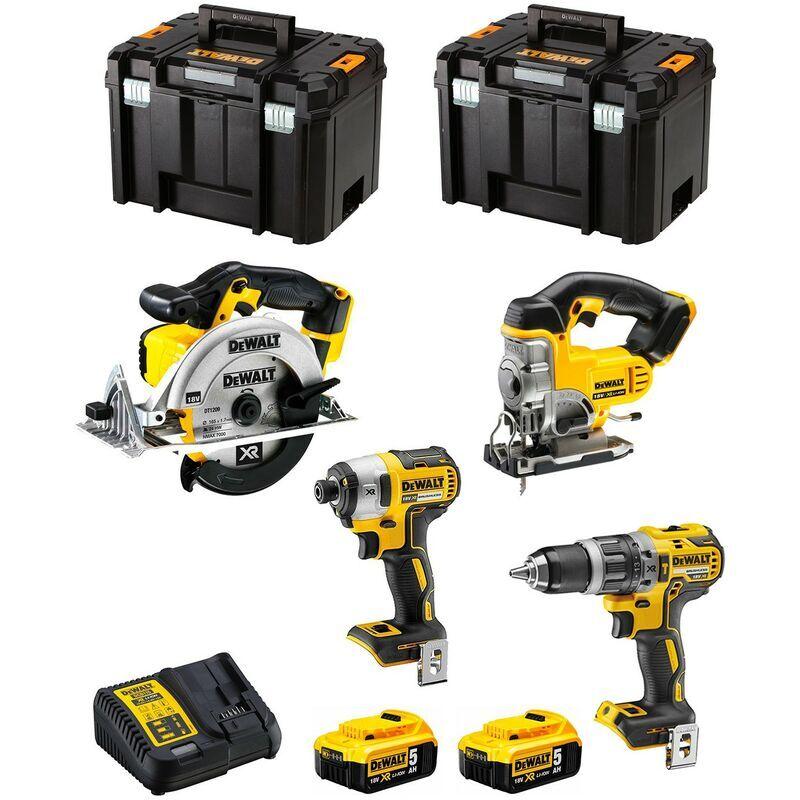 DeWALT Kit DWK402 (DCD796 DCF887 DCS331 DCS391 2 x 5,0 Ah DCB115 2 x
